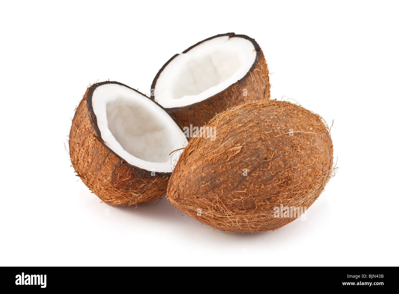 coconut isolated on white - Stock Image