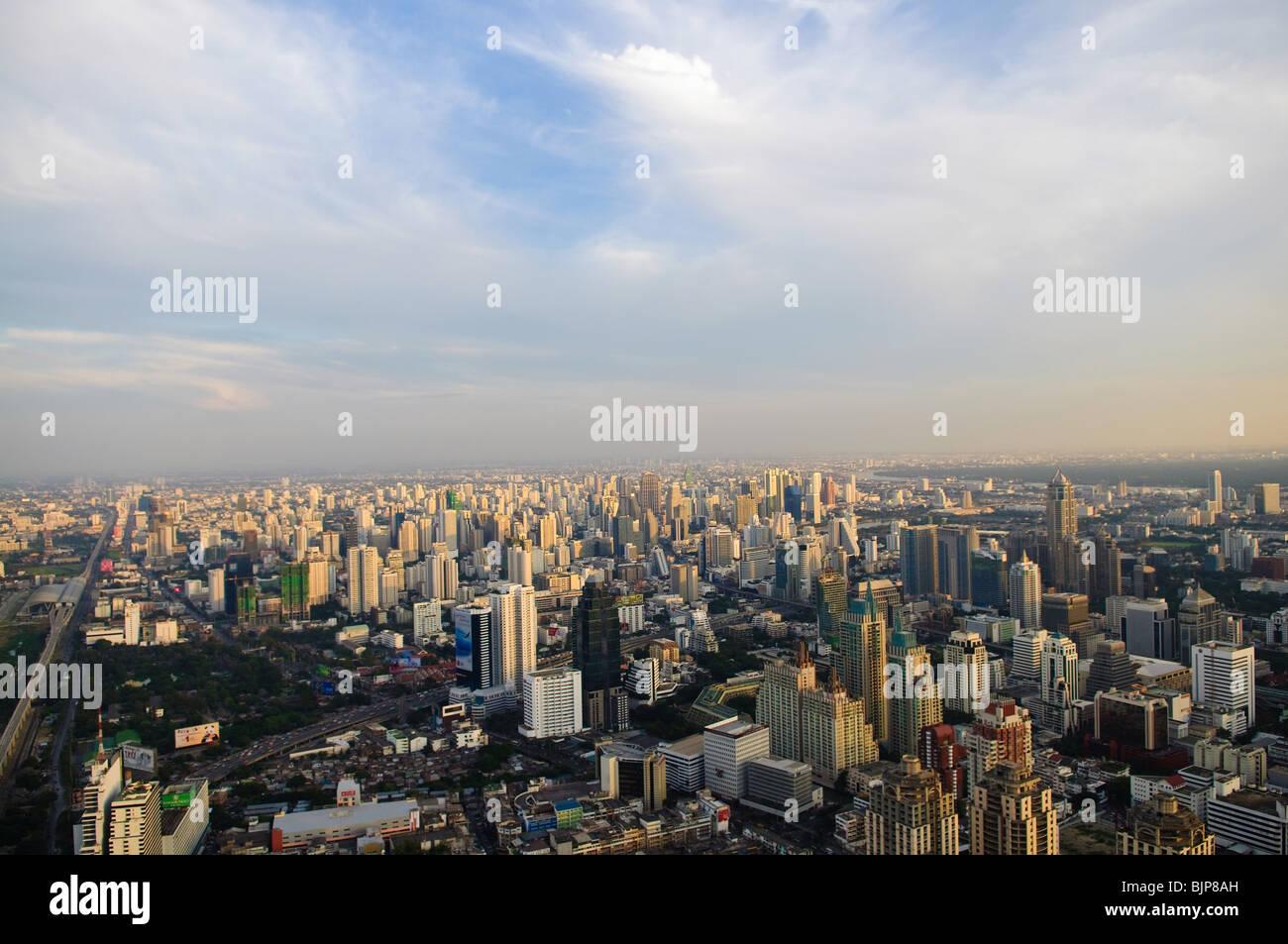 City skyline at sunset. Bangkok Thailand - Stock Image
