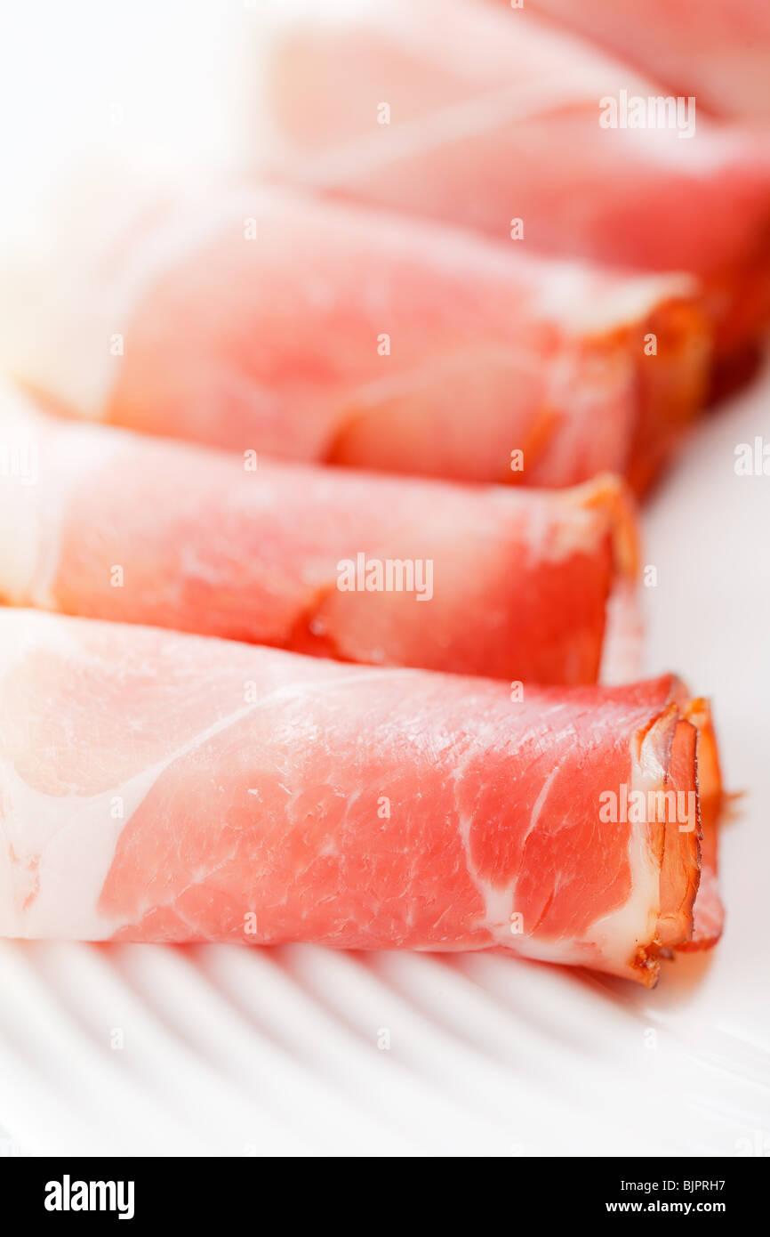 prosciutto crudo ham - Stock Image