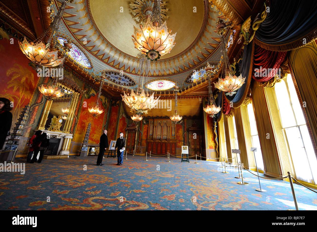 The Music room inside the Royal Pavilion - Brighton, UK Stock Photo ...