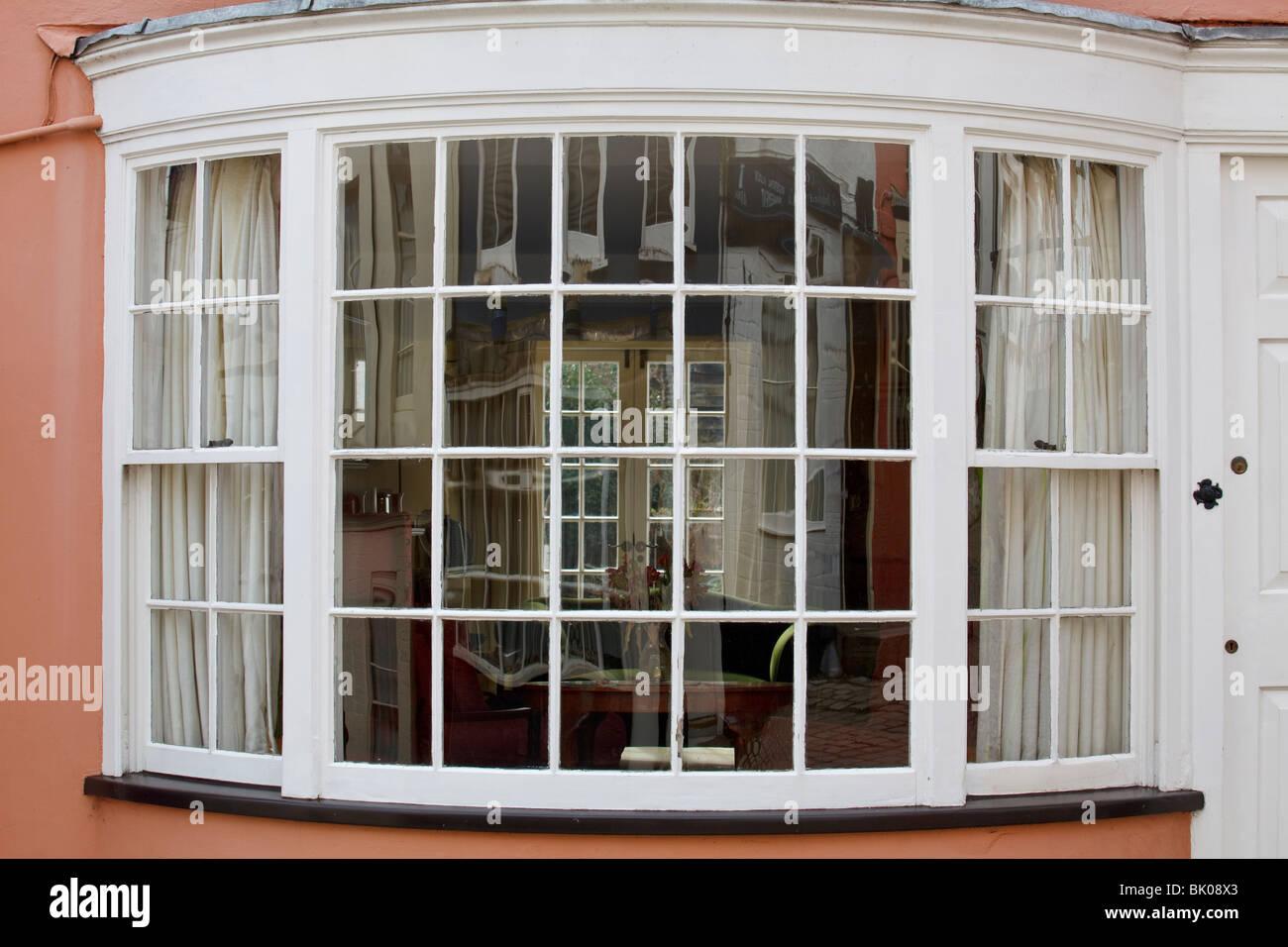 multi pane windows home multi lit bay window of small glass panes and glazing bars stock