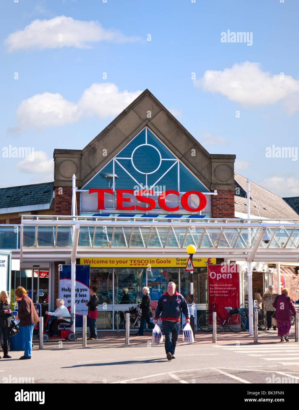 Tesco supermarket store, England, UKStock Photo