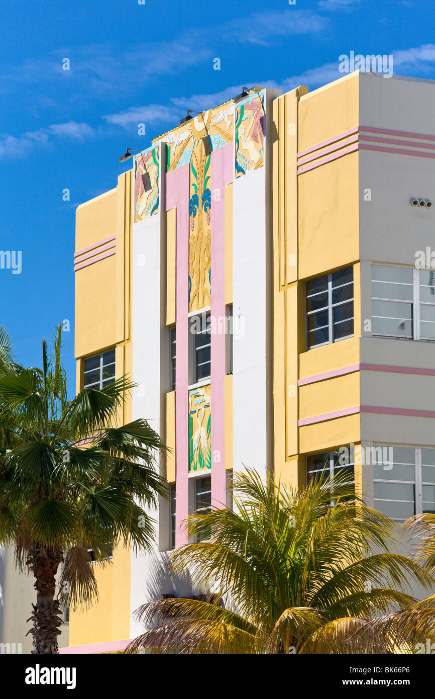 'Art Deco' Hotel, 'South Beach' Miami, Florida, USA - Stock Image