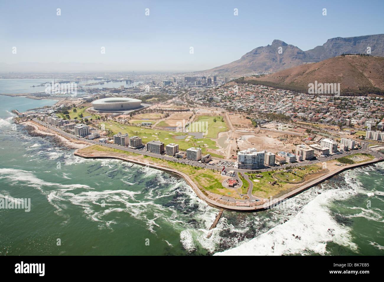 Cape town stadium and coast - Stock Image