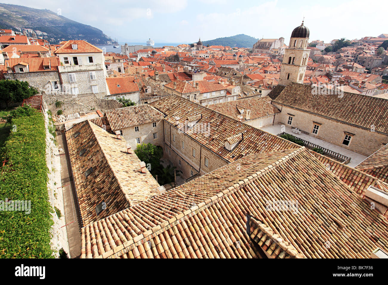 Monastery and buildings in dubrovnik - Stock Image