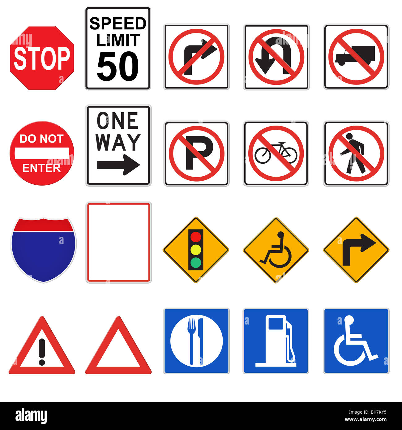 3d road signs front viewed stock photo 29058153 alamy