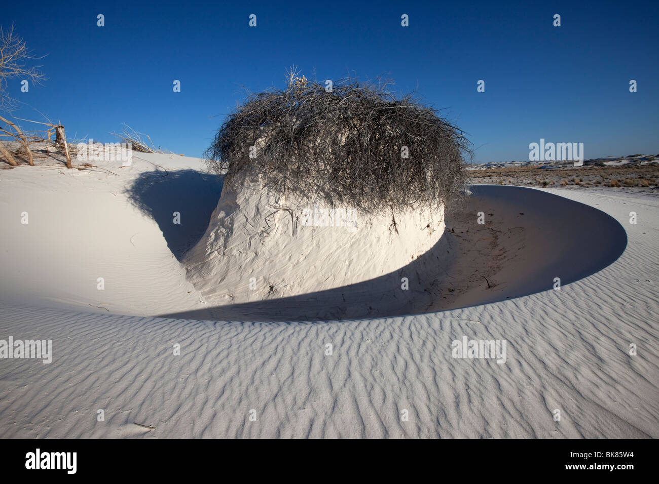 Wind Sculpted Sand Formation, White Sands National Monument, New Mexico - Stock Image