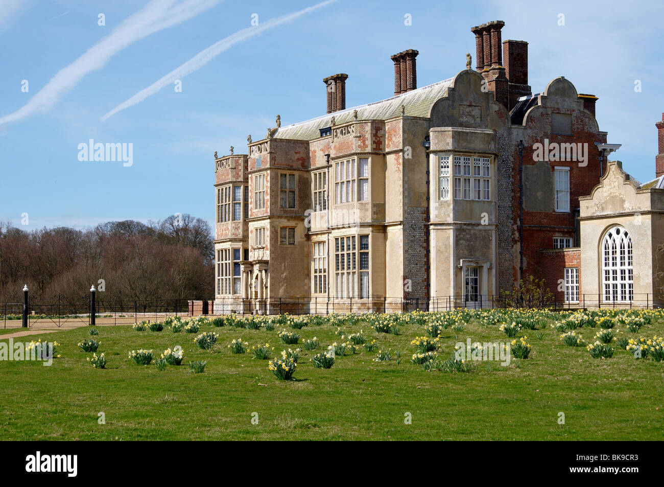Spring scene at Felbrigg Hall, near Cromer in Norfolk.  NB Images taken from public footpath (Weavers Way). Stock Photo