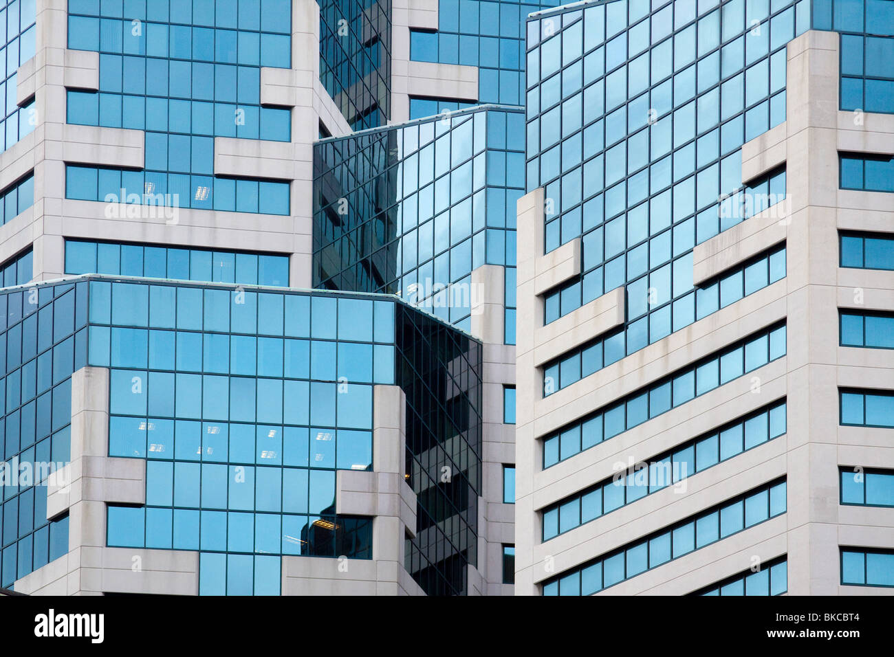Detail of modern architecture of the Westin San Diego hotel in downtown San Diego California - Stock Image
