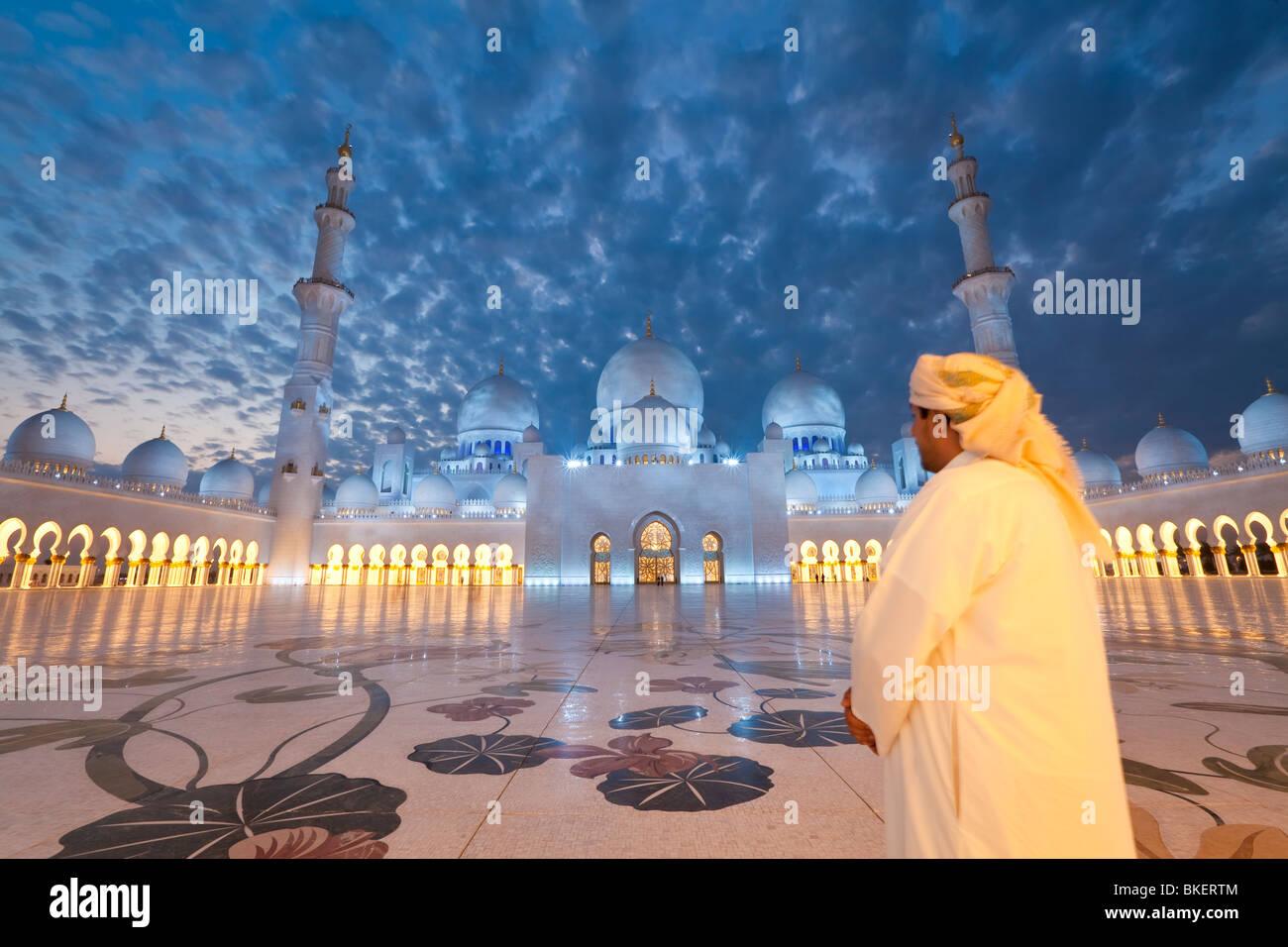 Sheikh Zayed Bin Sultan Al Nahyan Mosque, Abu Dhabi, United Arab Emirates, UAE - M.R - Stock Image