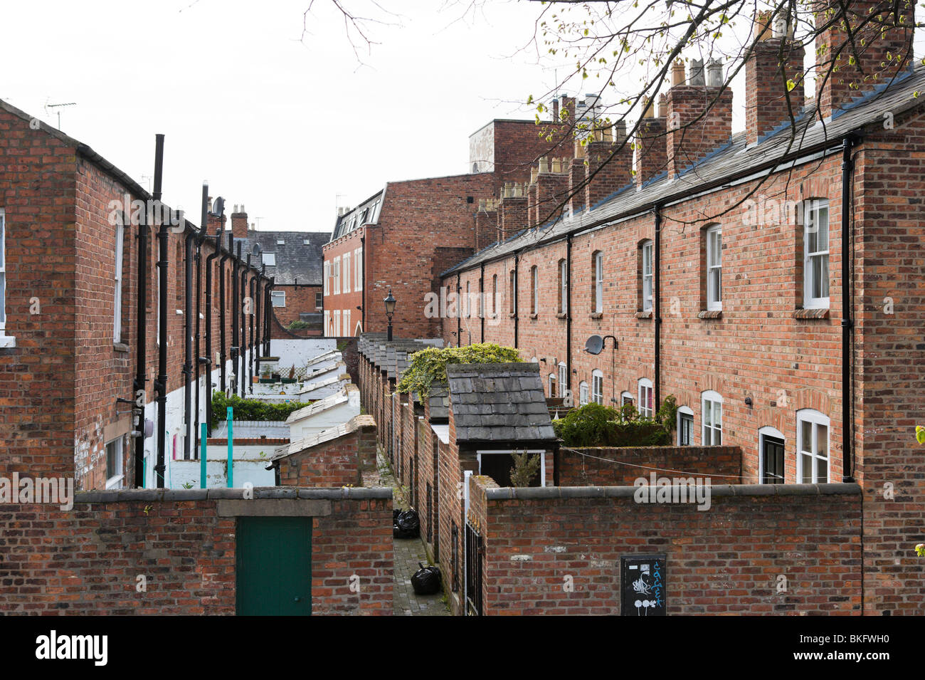 Rows Of Terraced Houses Chester Cheshire England Uk