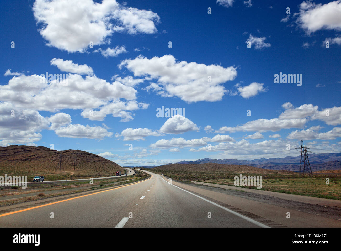 A stretch of the I-95 interstate highway in northern Nevada - Stock Image