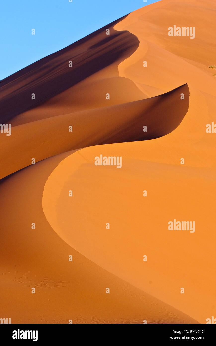 Sand dunes in the Sahara Desert, Morroco - Stock Image