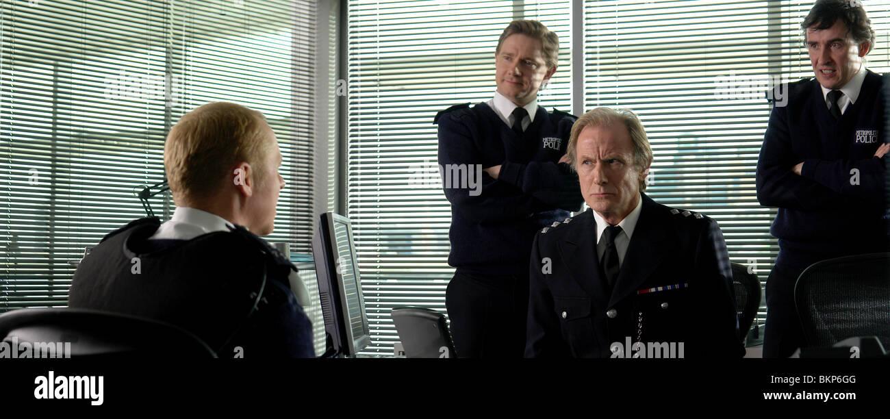 HOT FUZZ (2007) SIMON PEGG, MARTIN FREEMAN, BILL NIGHY, STEVE COOGAN FUZZ 002-07 - Stock Image