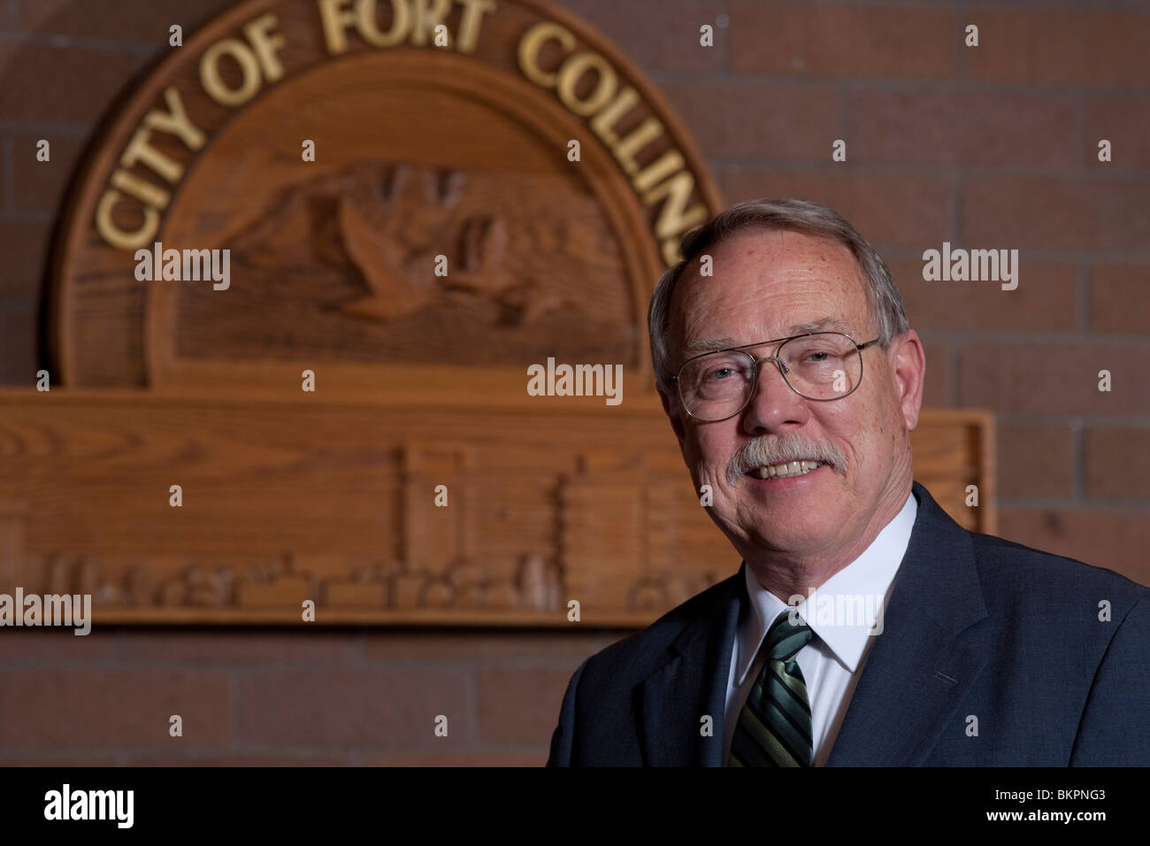 Portrait of City of Fort Collins, Colorado Mayor Doug Huchinson - Stock Image