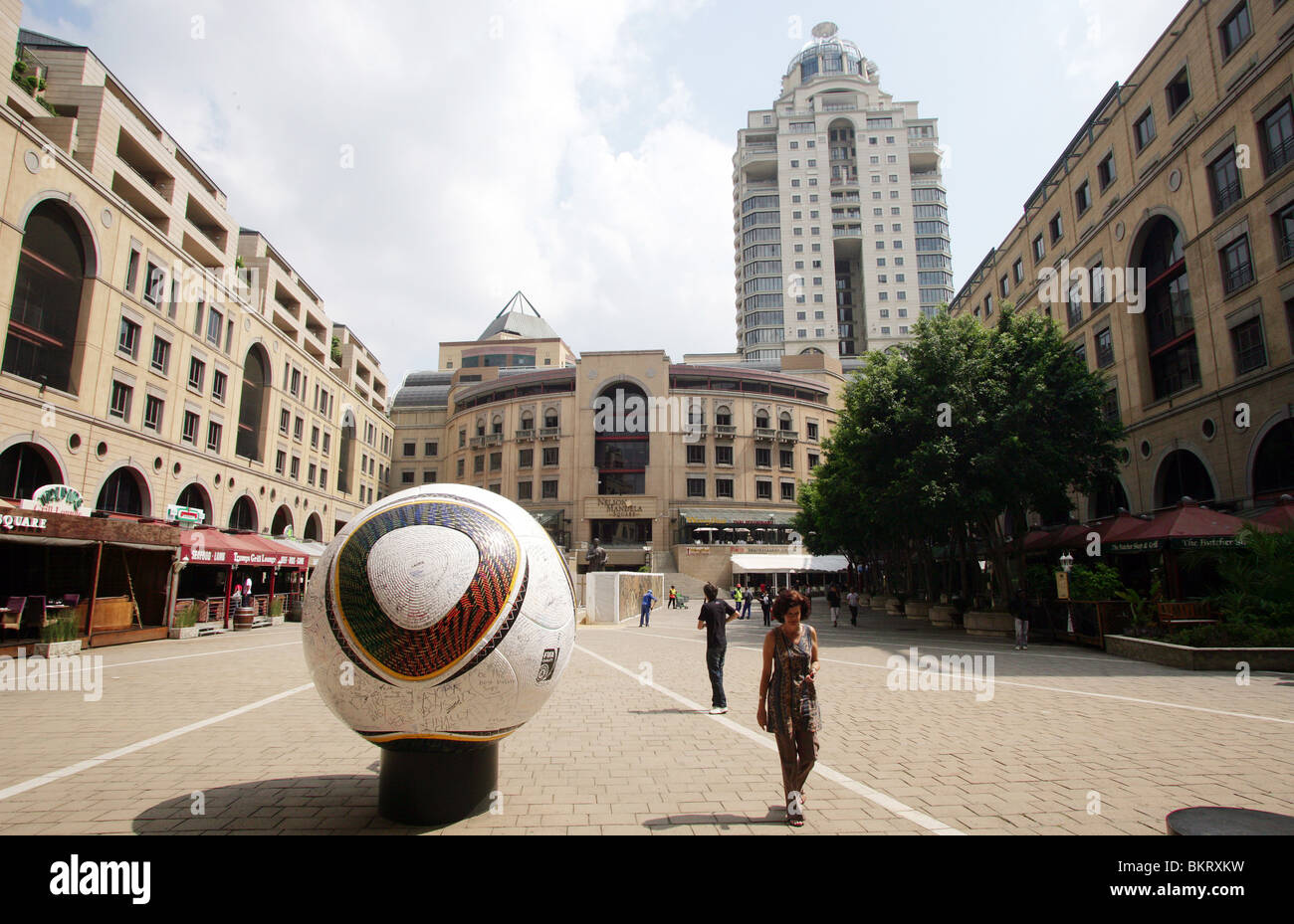 Nelson Mandela Square in Sandton City, Shopping and Hotel complex near Johannesburg - Stock Image