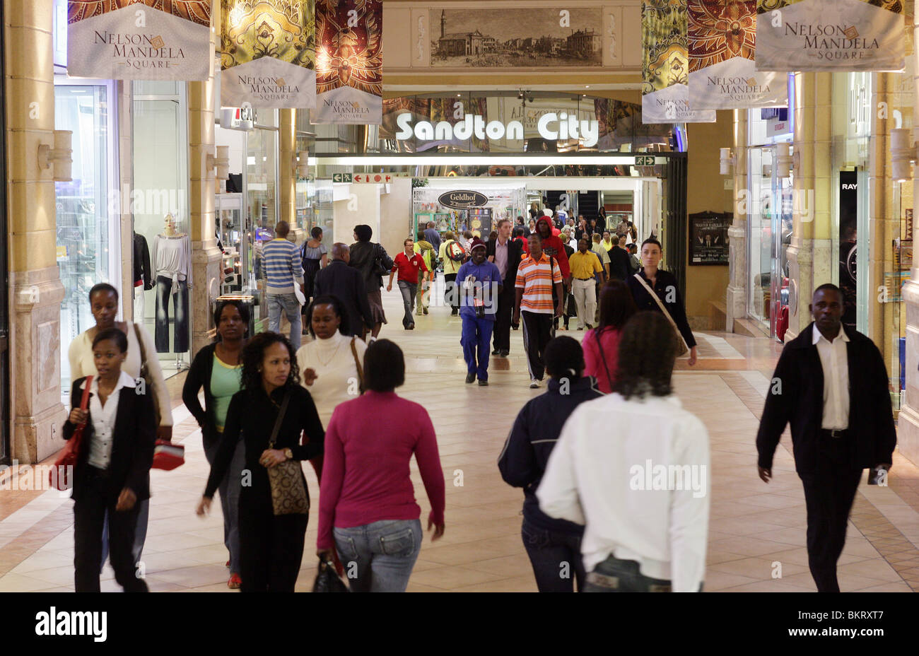 Sandton City, luxury Hotel- and Shopping complex in Sandton, suburb of Johannesburg, South Africa - Stock Image
