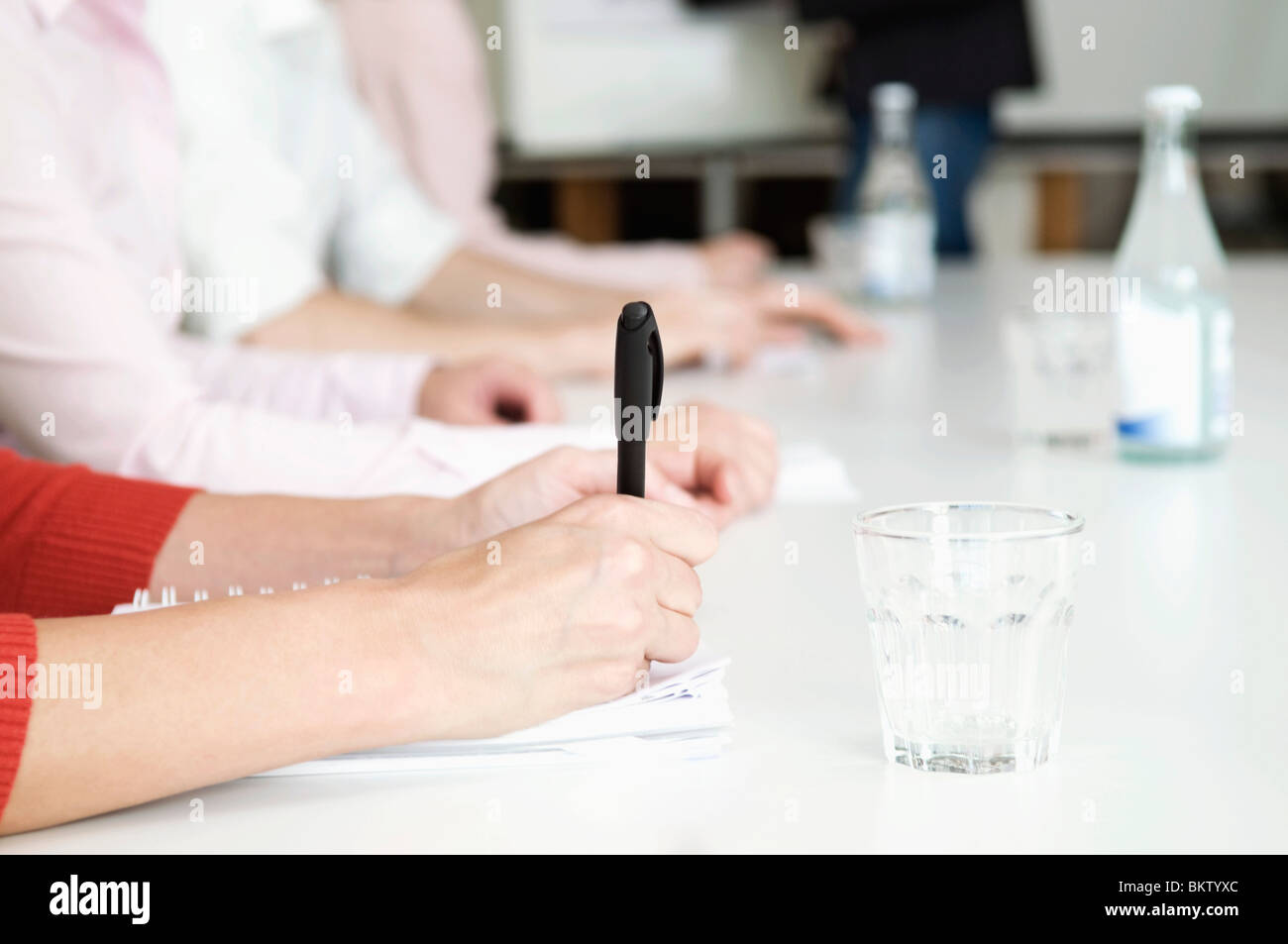 Taking notes - Stock Image