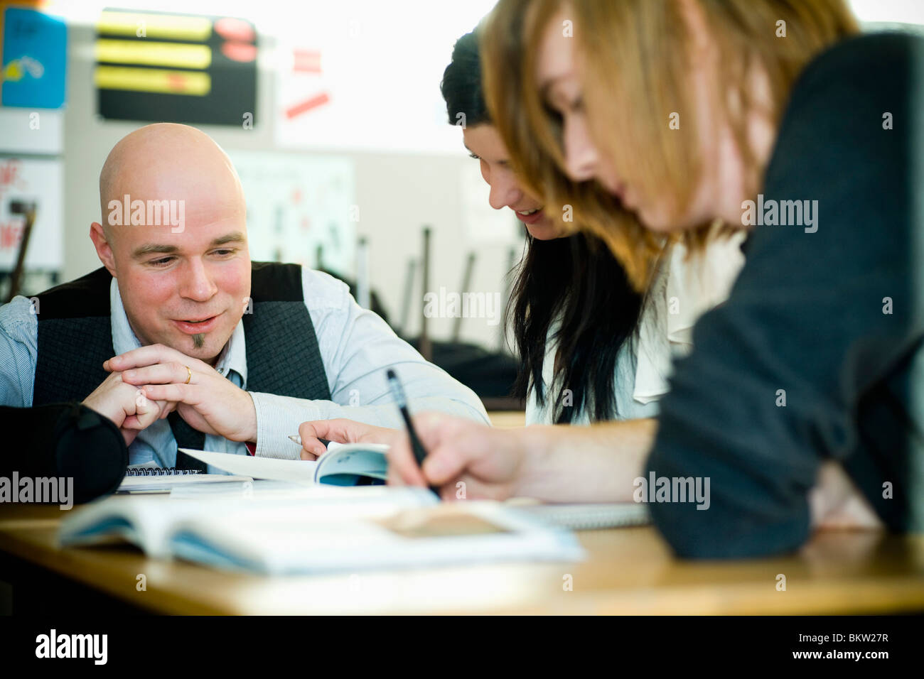 Teacher and students - Stock Image