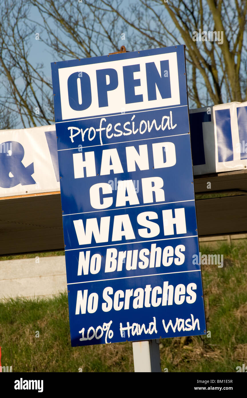 Sign Advertising A Hand Car Wash Business Stock Photo 29536579 Alamy
