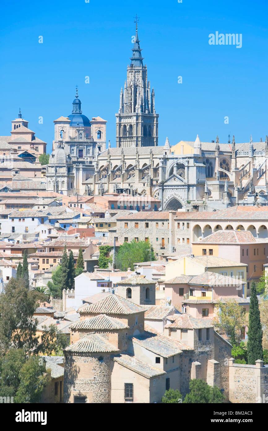 Toledo cityscape, Toledo, UNESCO World Heritage Site, Castilla La Mancha, Spain - Stock Image
