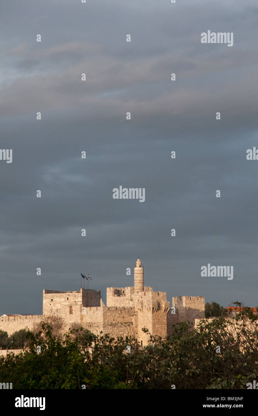 israel. jerusalem old city. the Tower of david - Stock Image