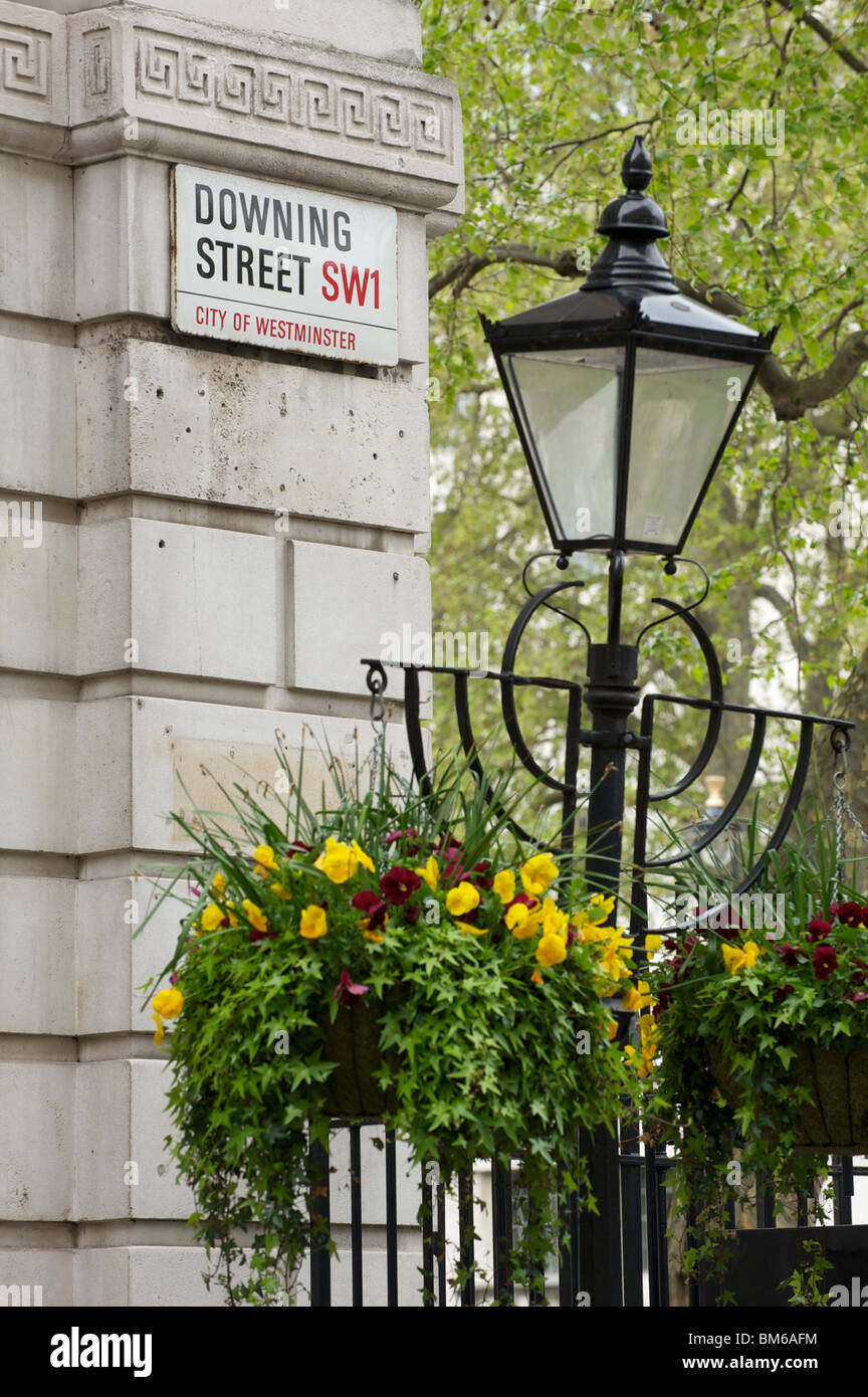 Downing Street SW1, City of Westminster sign - Stock Image
