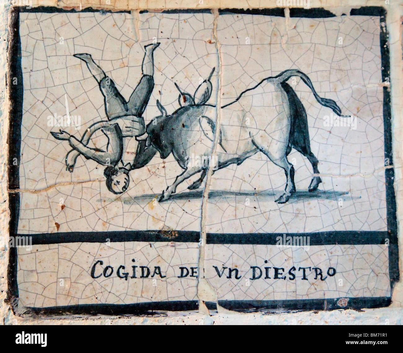 Lovely 1 Inch Hexagon Floor Tiles Thin 12X12 Floor Tiles Round 12X24 Ceramic Tile Patterns 2 X 12 Ceramic Tile Young 2X6 Subway Tile Black3D Ceiling Tiles Malaga Costa Del Sol, Spain. Bullfight Scene On Antique Ceramic Tile ..