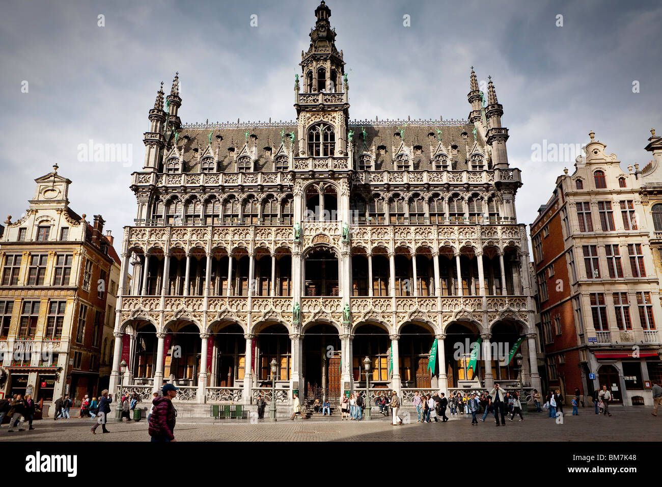 Grand Place, Grote Markt, Broodhuis, Maison du Roi,  Brussels Stock Photo