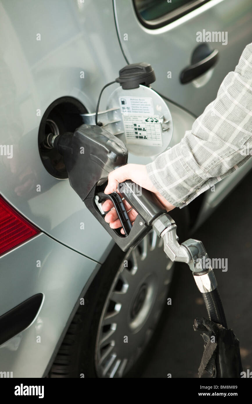 Refueling car at gas station - Stock Image