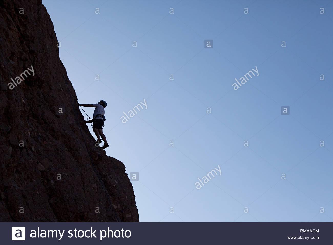 Rock climber - Stock Image
