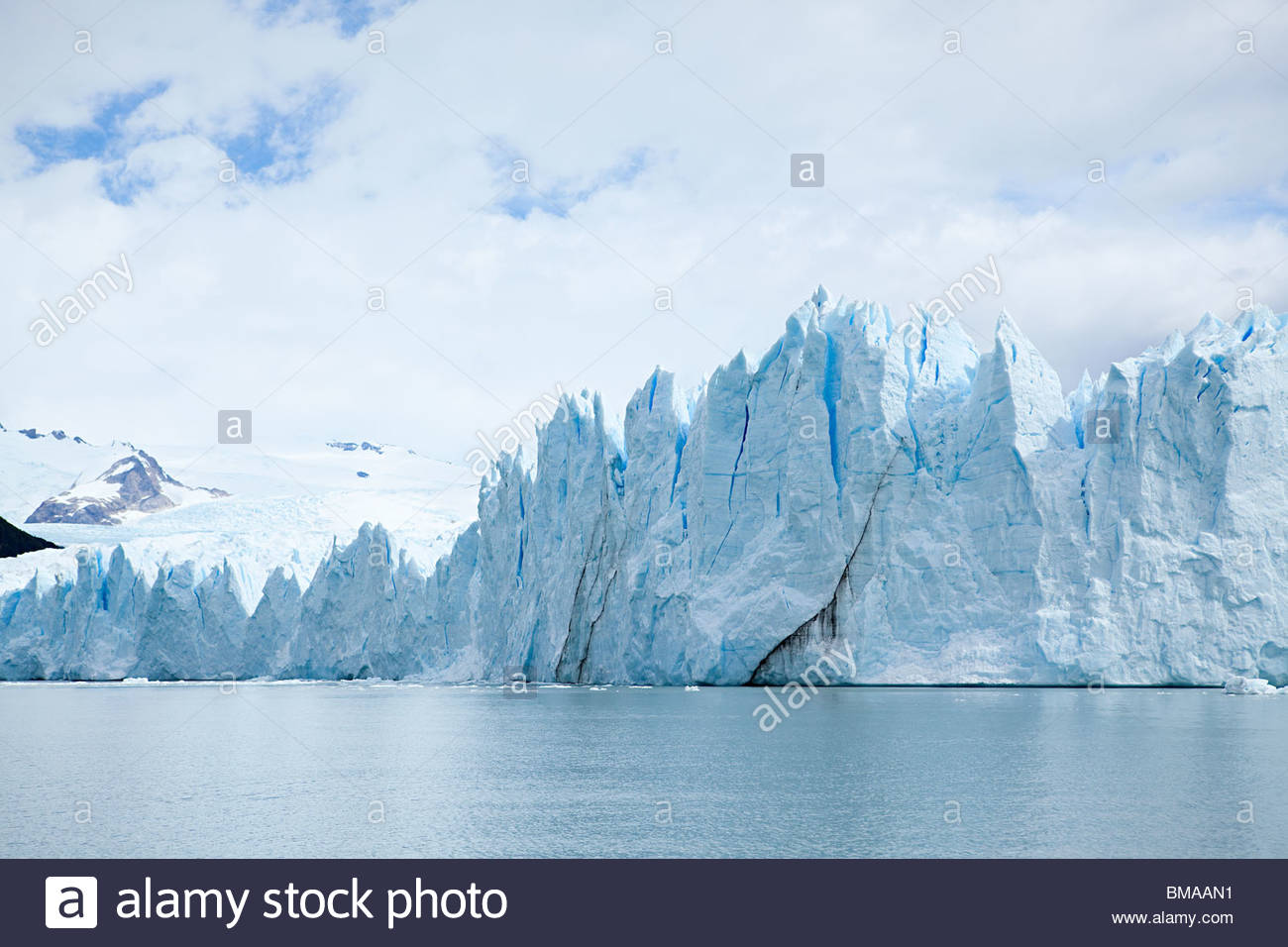 Upsala glacier at el calafate in southern argentina - Stock Image