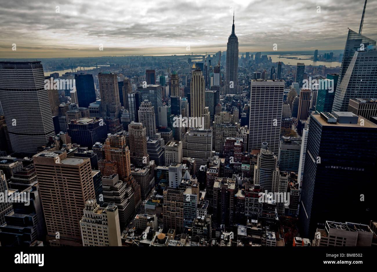Beautiful buildings in Manhattan, New York. USA. - Stock Image