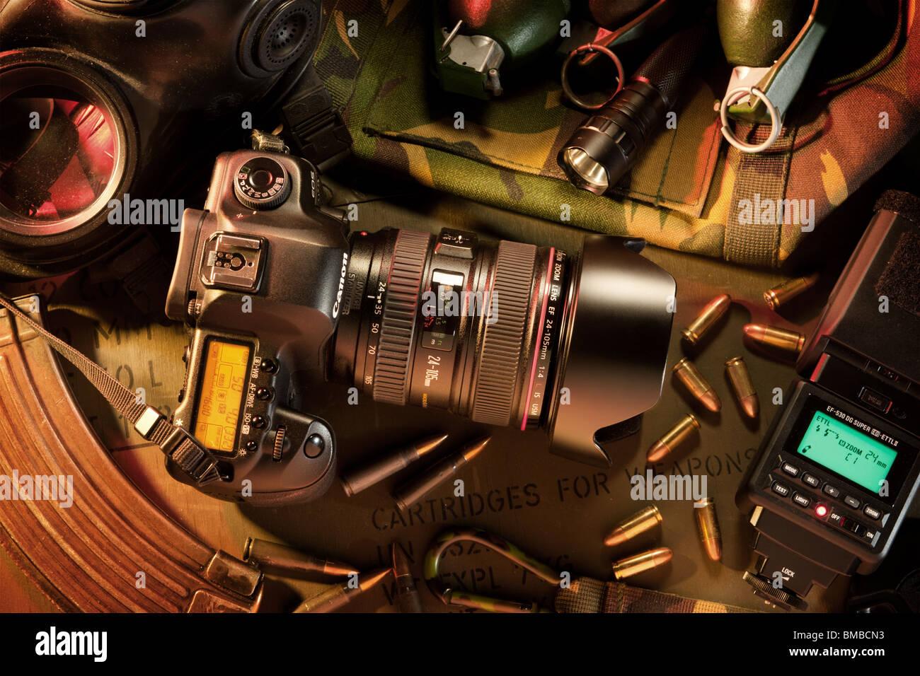 War photography - Stock Image