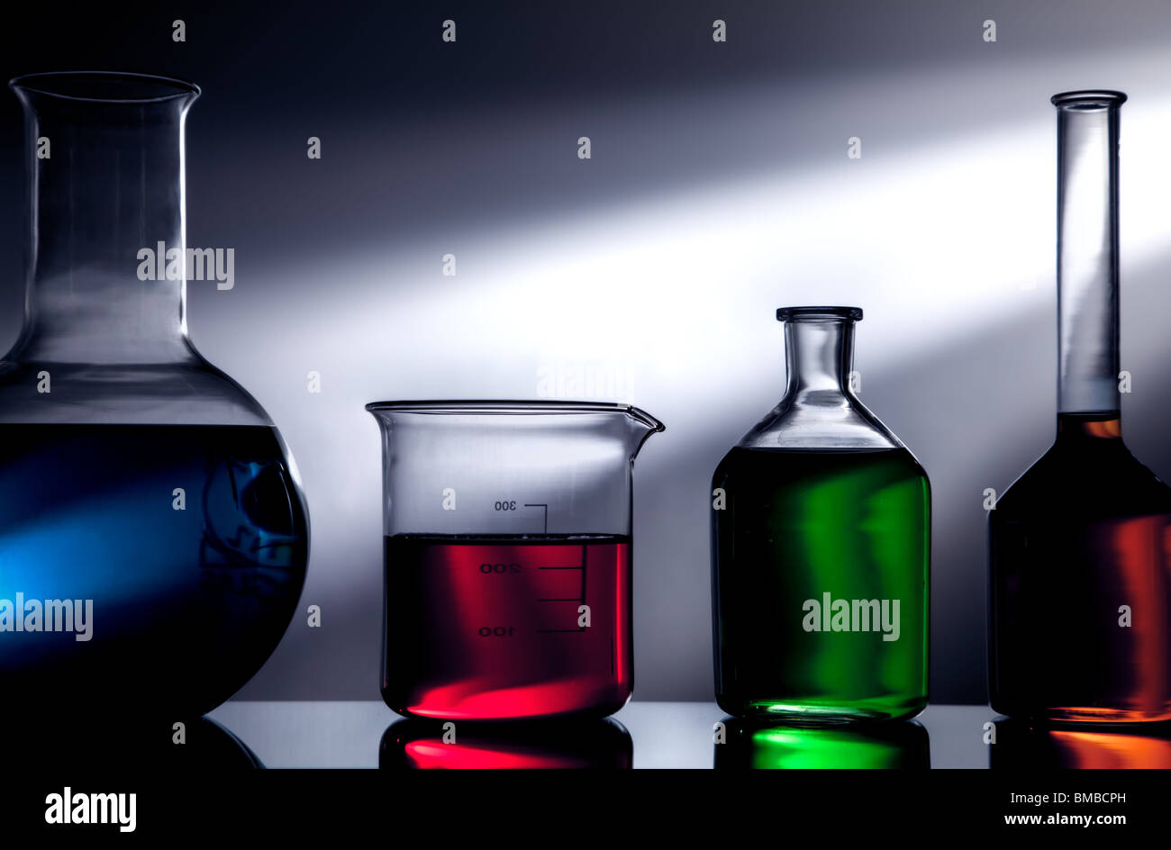Lab glassware - Stock Image