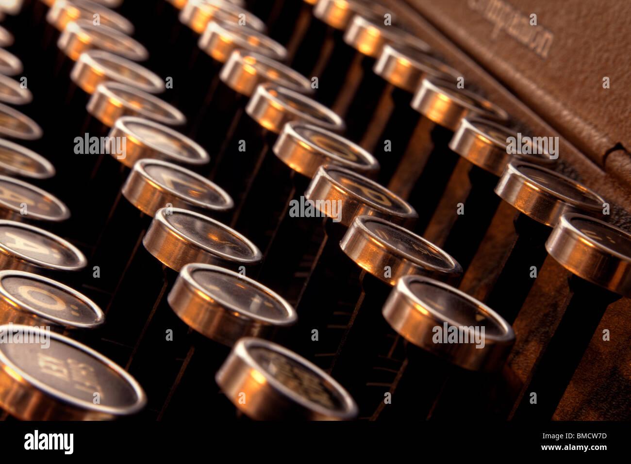 Typewriter keys - Stock Image