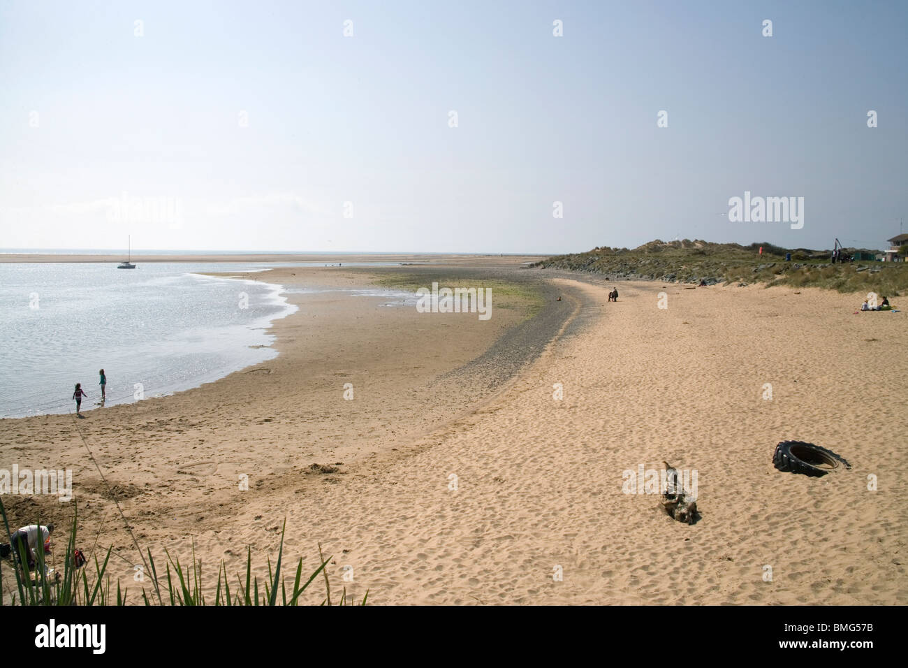 haverigg beach on the cumbria coast england Stock Photo