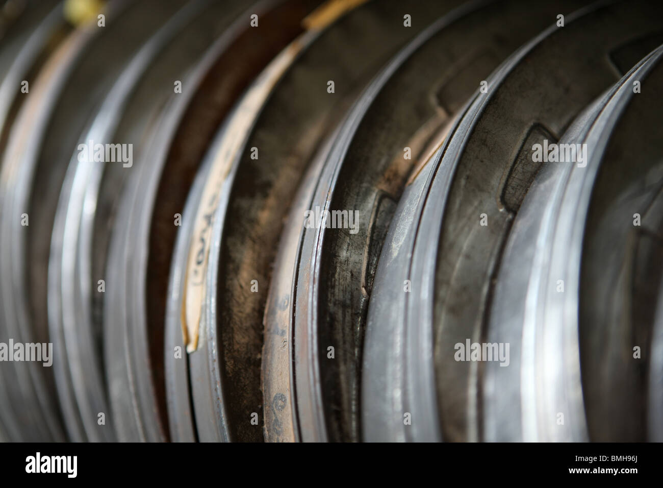 film reels, film, cinema - Stock Image