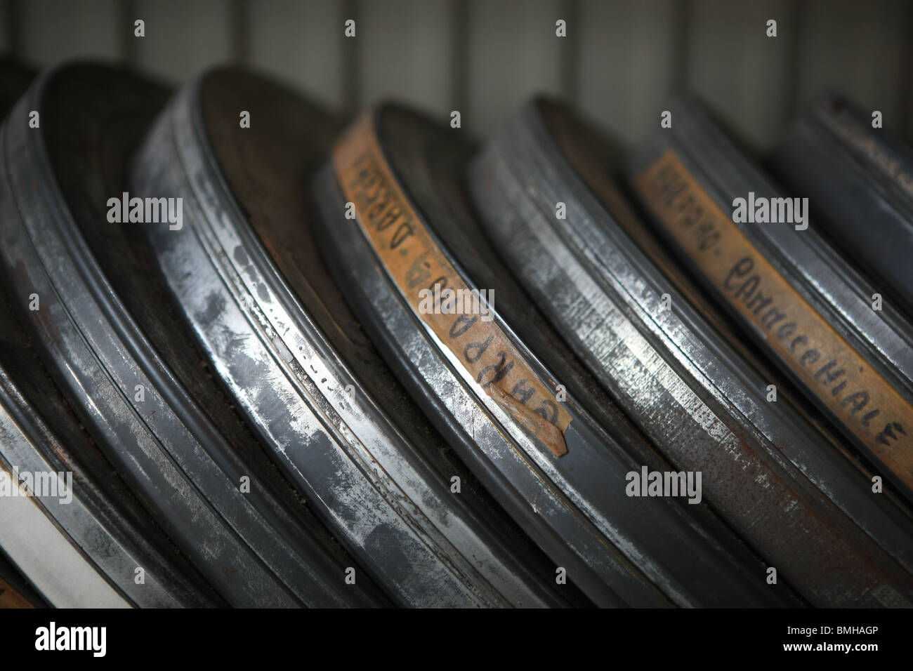film reels, film, cinema, - Stock Image