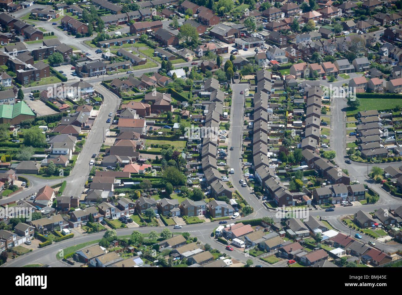 Suburban Britain, Nottinghamshire, East Midlands, England, UK - Stock Image