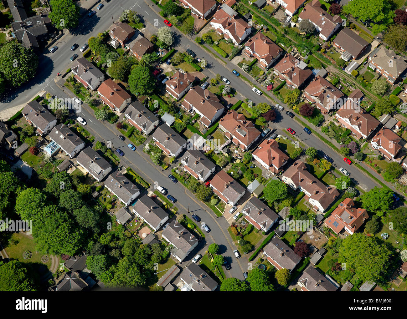 Suburban Britain, Nottingham, East Midlands, England, UK - Stock Image