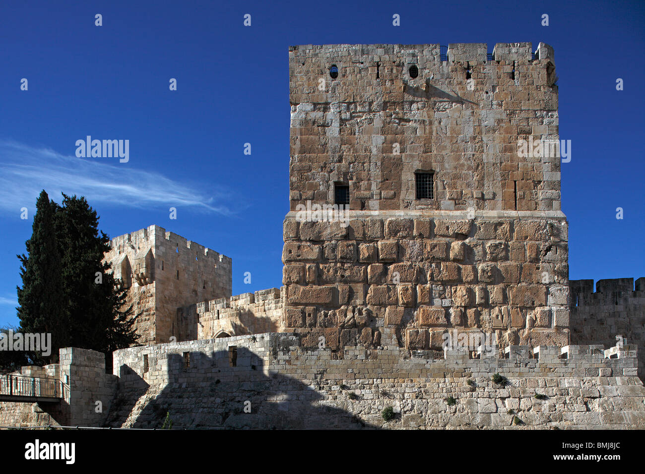 Israel,Jerusalem,Old city,Citadel,David's Tower - Stock Image