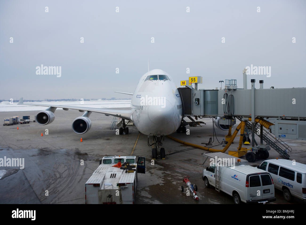 View of aircraft in airport - Stock Image