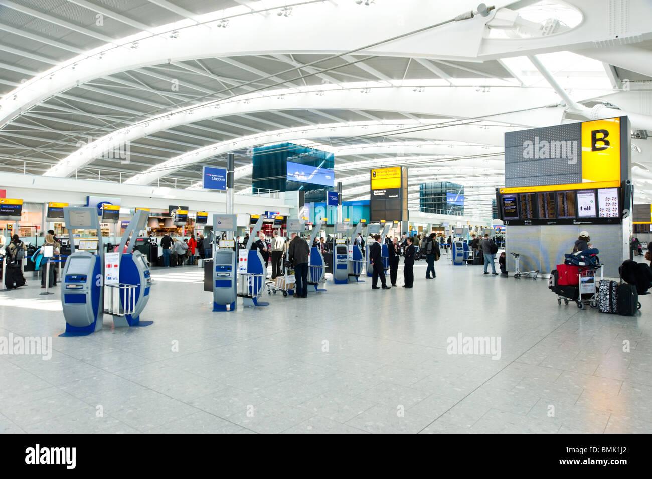 Heathrow Airport Terminal 5, London, England, UK - Stock Image