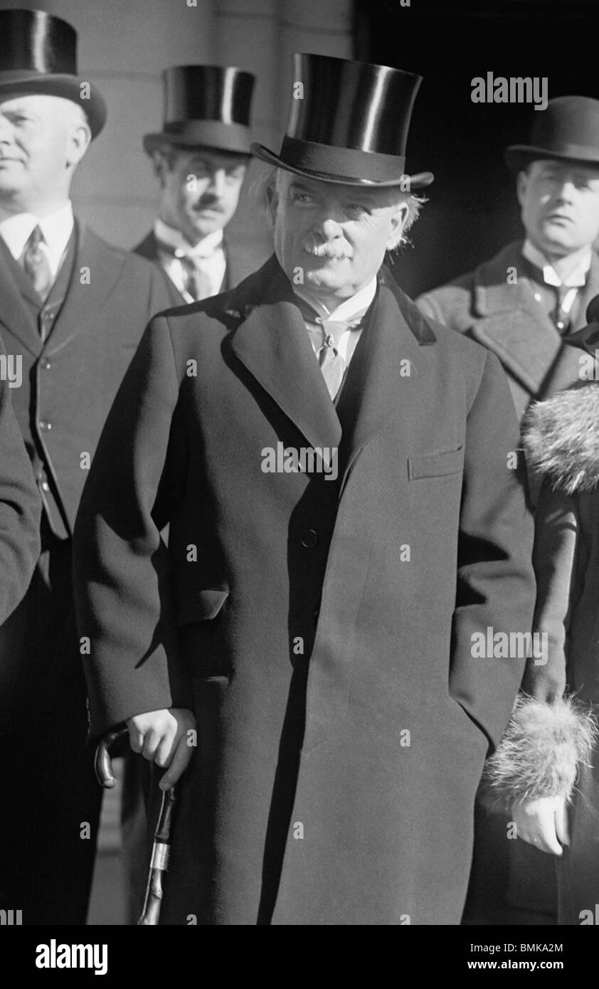 Vintage 1920s photo of David Lloyd George (1863 - 1945) - Liberal statesman and Prime Minister of the UK from 1916 - Stock Image