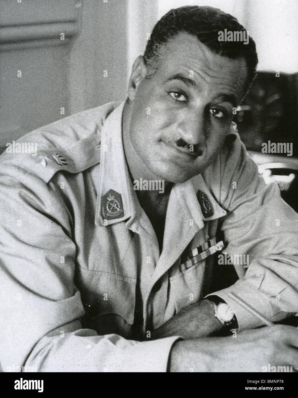 GAMAL ABDEL NASSER (1918-1970) was the second President of Egypt - Stock Image