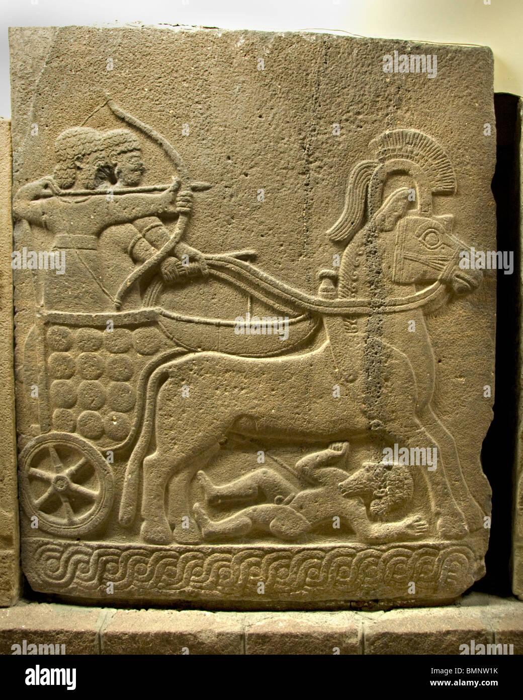 War Chariot  Neo Hittite 1000 BC 800 BC from Orthostat Karkamis Gaziantep   Anatolian Museum Ankara Stock Photo