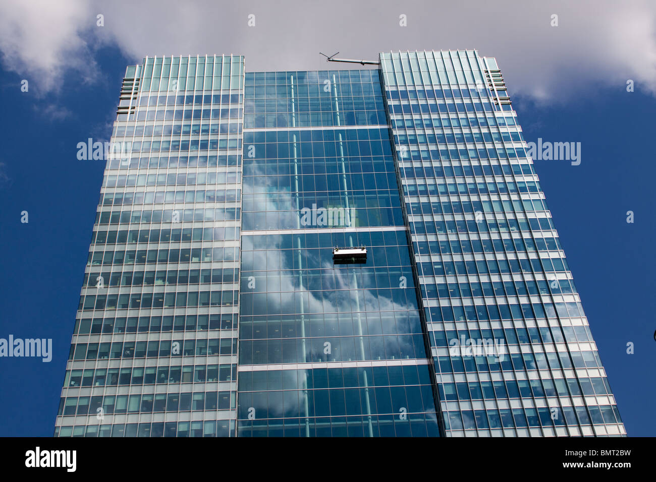 Tall Building in Londons Docklands - Stock Image