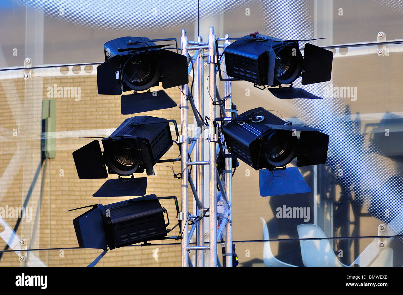 Spot Lights at the British Film Institute - Stock Image