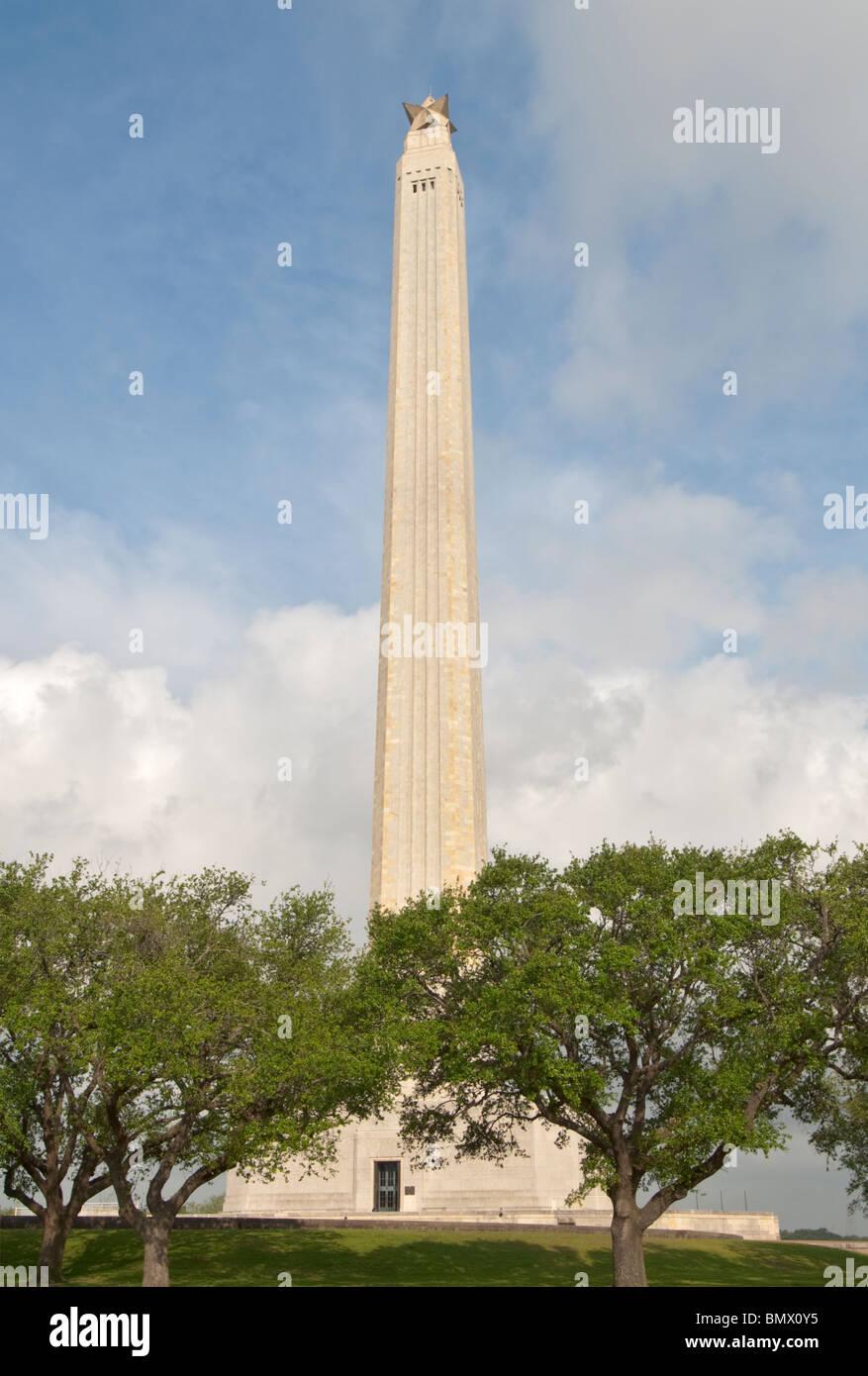 Texas, La Porte, San Jacinto Battleground State Historic Site, San Jacinto Monument, 570 feet tall - Stock Image